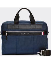 Tommy Hilfiger Navy Blue Portfolio With Zip