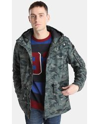 Green Coast - Camouflage Hooded Parka - Lyst