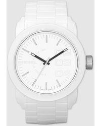 DIESEL Watch, White Silicone Strap 44mm Dz1436