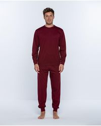 Punto Blanco Pijama De Hombre Rojo