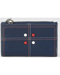 Caminatta - Medium Navy Blue Wallet With Two Compartments - Lyst