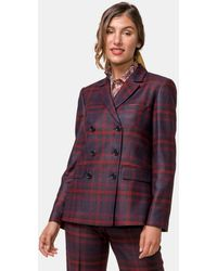 Mirto Wo Checked Double-breasted Jacket - Multicolor