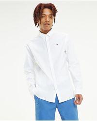 Tommy Hilfiger Camisa Oxford De Hombre Regular Lisa Blanca - Blanco