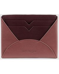 Jo & Mr. Joe - Mens Maroon Leather Card Holder - Lyst