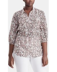 Denim & Supply Ralph Lauren   Plus Size Floral Print Blouse With French Sleeves   Lyst