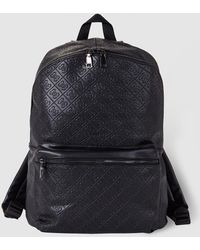 Guess - Mens Black Backpack With Embossed Logo - Lyst