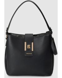 Pepe Moll Black Hobo Bag With Various Inner Compartments