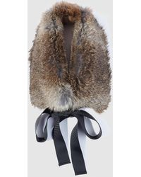 El Corte Inglés - Natural Fur Cowl With Bow - Lyst