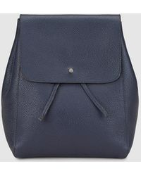 Gloria Ortiz - Iggy Blue Leather Backpack With Foldover Flap - Lyst