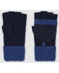 El Corte Inglés Navy Blue Knitted Mittens