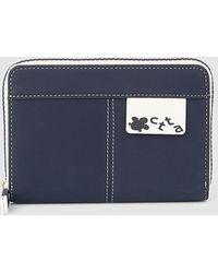 Caminatta - Medium Navy Blue Wallet With Zip - Lyst