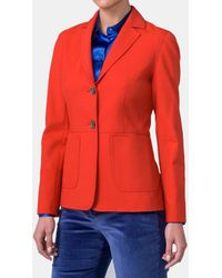 Mirto - Orange Jacket With Two Pockets - Lyst