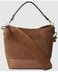 Polo Ralph Lauren - Camel-coloured Leather Small Hobo Bag With Magnetic Clasp - Lyst