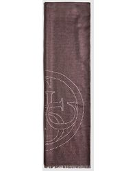 Guess Black Scarf With Brand Logo Print
