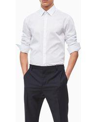 Calvin Klein Camisa De Hombre Slim Lisa Blanca - Blanco