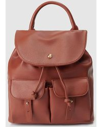 El Corte Inglés - Brown Backpack With Outer Pockets - Lyst