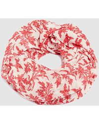 Esprit White Cowl With A Red All-over Print