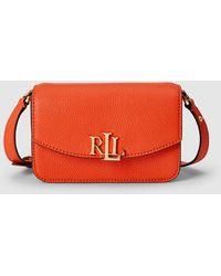 Lauren by Ralph Lauren Orange Leather Mini Convertible Crossbody Bag/belt Bag