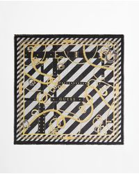 Guess Multicoloured Handkerchief With A Stripe Print And Chains - Multicolor