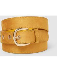 El Corte Inglés Cinturón De Mujer En Mostaza Con Hebilla De Metal - Amarillo