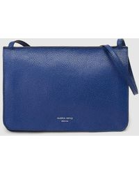 Gloria Ortiz Adele Blue Leather Crossbody Bag