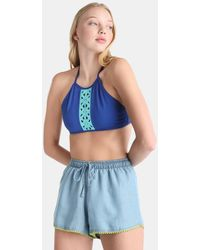 Green Coast - Beach Shorts With Pompoms - Lyst