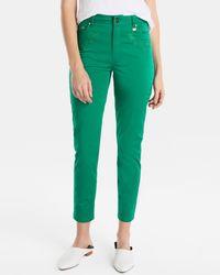 Yera - Green Capri Trousers - Lyst