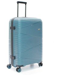 Gloria Ortiz Large Green 106 L Hard-sided Suitcase - Blue