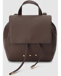 El Corte Inglés Dark Brown Mini Backpack With Grained Finish