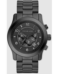 Michael Kors - Runway Mk8157 Black Chronograph Watch - Lyst