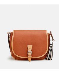 Esprit Camel Crossbody Bag With Flap - Multicolor