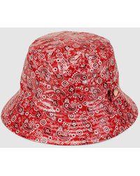 Gloria Ortiz - Red Printed Rain Hat - Lyst