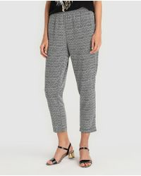 Zendra El Corte Inglés - 0el Corte Inglés Zendra Printed Loose-fitting Trousers - Lyst