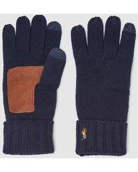 Polo Ralph Lauren Mens Navy Blue Knit Gloves