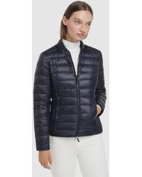 Armani Exchange Wo Basic Short Quilted Coat - Blue