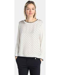 Yera - T-shirt With Polka Dot Print And Long Sleeves - Lyst