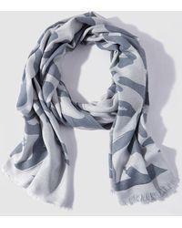 Caminatta - Grey Printed Foulard - Lyst