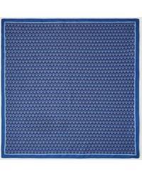 El Corte Inglés Navy Blue Tie Print Bandanna