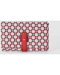 El Corte Inglés - Wo Red Wallet With A Geometric Print And Tab Closure - Lyst