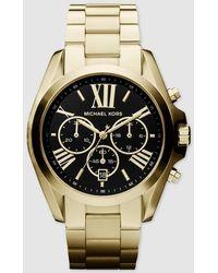 Michael Kors - Mk5739 Bradshaw Golden Steel Chronograph Watch - Lyst