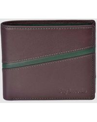 Guy Laroche Burgundy And Green Leather Wallet - Purple