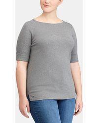 Denim & Supply Ralph Lauren - Plus Size Short Sleeved Grey T-shirt - Lyst