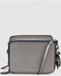 Gloria Ortiz - Christmas Charm Metallic Grey Leather Mini Crossbody Bag With A Detachable Strap - Lyst