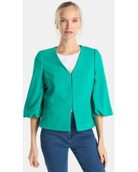 Yera - Green Jacket With French Sleeves - Lyst