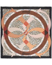 Guess Multicoloured Animal Print Handkerchief With Brand Logo - Multicolor
