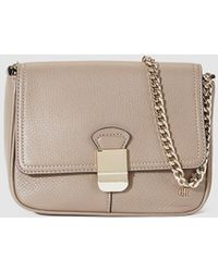 Georges Rech - Small Taupe Leather Messenger Bag Bag With Chain Strap - Lyst