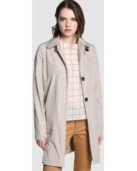 indi & cold - Long Light Beige Raincoat - Lyst