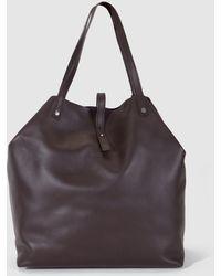 Gloria Ortiz - Maxi Sofia Dark Brown Leather Shopper Bag - Lyst