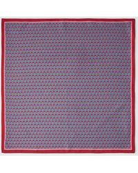 El Corte Inglés Aquamarine Tie Print Bandanna - Multicolor