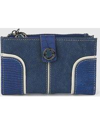 Caminatta - Medium Combined Navy Blue Wallet With Coin Pocket - Lyst
